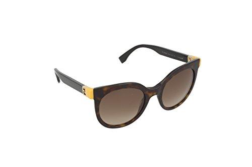 Fendi ff 0129/s j6 trd 51, occhiali da sole donna, nero (dark havana black/brown shaded)