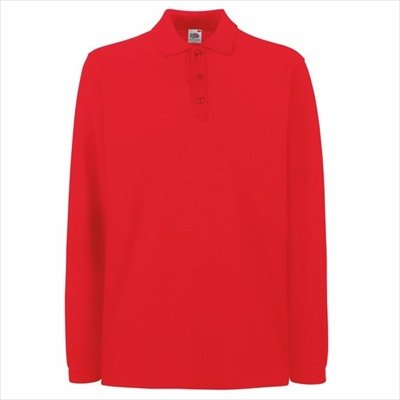 Fruit of the Loom - Premium Longsleeve Polo - Modell 2013 / Red, XL XL,Red