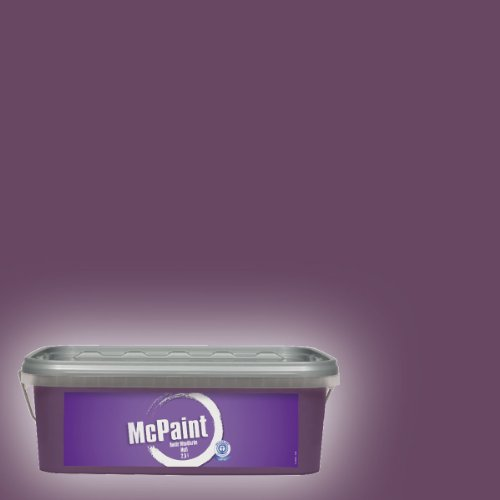 McPaint Bunte Wandfarbe matt Deep Violet 2,5 Liter