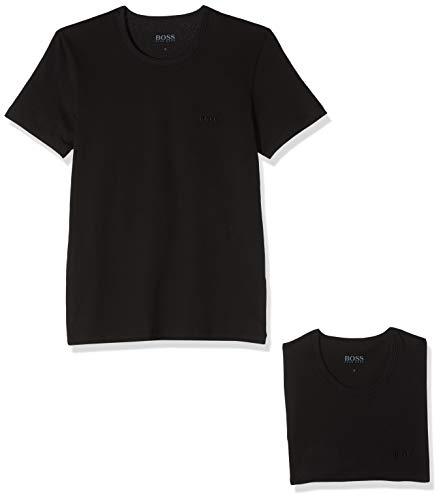 BOSS Herren T-Shirts RN 3P CO, 3er Pack, Schwarz (Black 001), Large