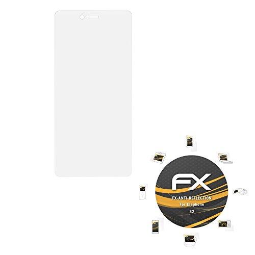 atFolix Panzerfolie kompatibel mit Elephone S2 Schutzfolie, entspiegelnde & stoßdämpfende FX Folie (3X)