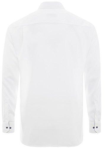 Michaelax-Fashion-Trade -  Camicia classiche  - Basic - Classico  - Maniche lunghe  - Uomo Weiß (00)