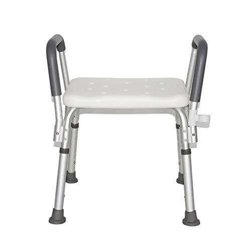 Tabouret De Bain Tabouret de douche siège de bain chaise de bain - aluminium léger - hauteur réglable - avec accoudoirs - grossesse de personne âgée handicapée portant 200 kg Tabouret de siège de douc