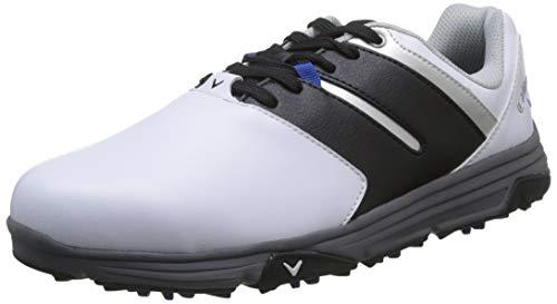 Callaway Herren Chev Mission Waterproofs Golfschuhe, Weiß White/Black, 43 EU
