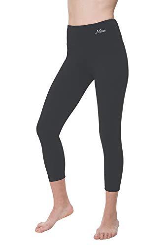 NIRLON Capri-Leggings für Damen, hohe Taille, Workout, Capris, Yoga-Hose, Übergröße, Damen, Graphite 22