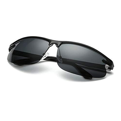 UV400 UV Cut Metallrahmen Sport Sonnenbrille Drive Baseball Fahrrad Angeln Laufen Golf Fahren Polarisierte Sonnenbrille Brille (Color : Schwarz, Size : Kostenlos)