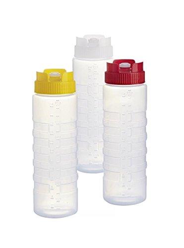 Kerafactum® - 3 Quetschflasche Dosierflasche Squeezebottle Majoflasche Flasche bottle Maßeinteilung Dosierer 0,75 Mix
