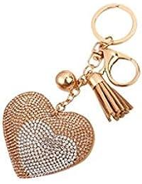Banggood ELECTROPRIME Bag Keychain Bling Bling Key Ring Charm Decor Car Pendant Champagne