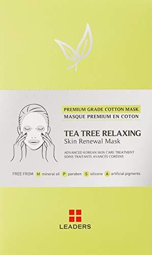 Leaders - Maschera di Sheet Insolution Skin Clinic Maske - Tea Tree Relaxing Skin Clinic maschera (set da 10 pezzi)
