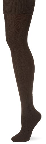 ESPRIT Damen Kniestrumpf, 18544 Plait OK, Gr. 39-42, Braun (dark brown 5230)