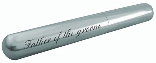 Luxury Engraved Gifts UK Gravur Father of The Groom Cigar Tube mit Samt Geschenkbeutel H5 A