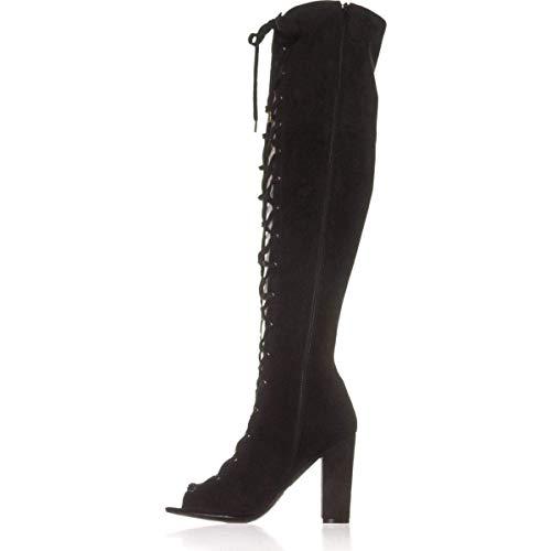 Guess Frauen Casidi Offener Zeh Fashion Stiefel Schwarz Groesse 6 US /37 EU