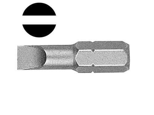 Adapter Insert Bit (Witte Bits Schraubendreher mit Schlitz, 4.5mm, Paket von 2)