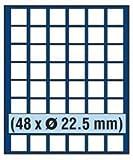 SAFE 6322 TABLEAUS NOVA 48 x 22,5 mm ECKIGE FÄCHER - IDEAL FÜR 5 - 10 - 20 CENT & 10 - 50 PFENNIG & FÜR MÜNZEN BIS 22,5 mm & IN MÜNZKAPSELN BIS CAPS 16,5 - PASST FÜR NOVA - NOVA EXQUISITE - HOLZ KASSETTEN 5883 – WURZELHOLZ KASSETTEN 5883 - MÜNZKOFFER 176 - 172 - 173 - 174 - 175 - 177 - 179 - 276