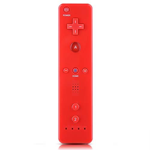 Aufee Controller di Gioco, Controller di Gioco Wireless o Game Controller Controller Gamepad con Joystick analogico per Nintendo WiiU/Wii Console(Rosso)
