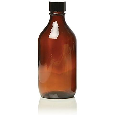 Hive Bottiglia di vetro ambrato con coperchio nero per olio essenziale / aromaterapia USO 500ml