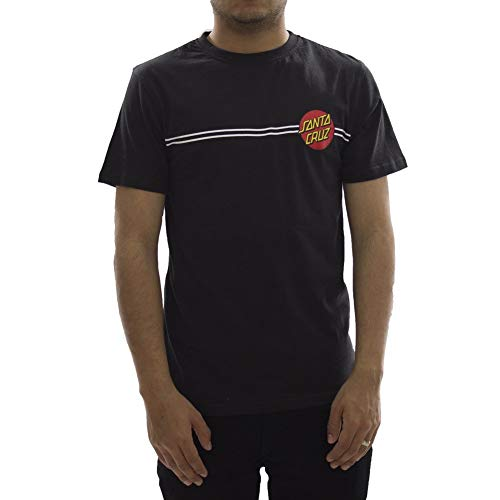 Santa Cruz Schwarz Og Classic Dot T-Shirt (Large, Schwarz) - Dot Herren T-shirt