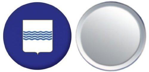 Miroir insigne de bouton Italie Basilicata drapeau - 58mm