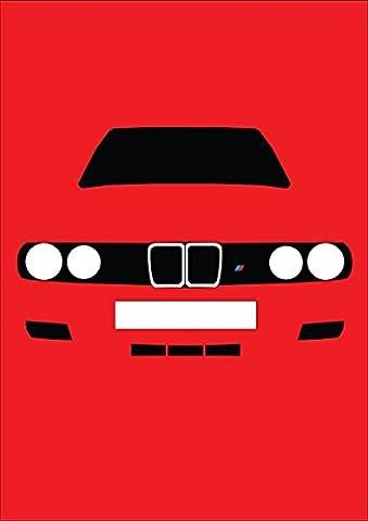 BMW E30M3–Retro Motor Company Grußkarte