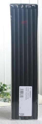 Stabkerzen, 30 x 1,2 cm Ø, 12er-Pack, schwarz