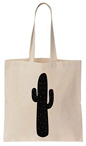 Minimalistic Dotted Cactus Cotton Canvas Tote Bag Baumwollsegeltuch-Einkaufstasche (Polka Print Tote Dots)