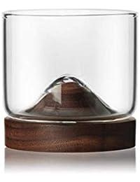 ZN-cup Resistente al Calor Transparente Vidrio Whisky Jarra pequeña de Cerveza/Separable Madera Maciza Portavasos/Bar Hogar…
