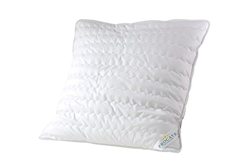 PROCAVE Micro-Comfort Stepp-Kissen 80x80 cm | Mircofaser | Kopfkissen | Schlafkissen | Soft Touch