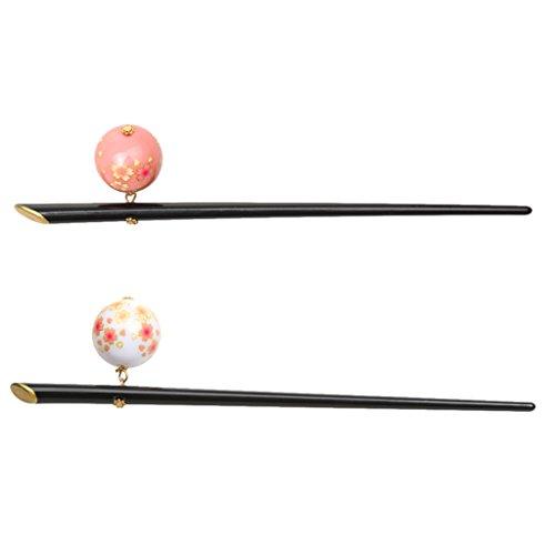 2 Stücke Elegante Acryl Sakura Dekoration Haarnadel Haar Stick Japanischen Kanzashi