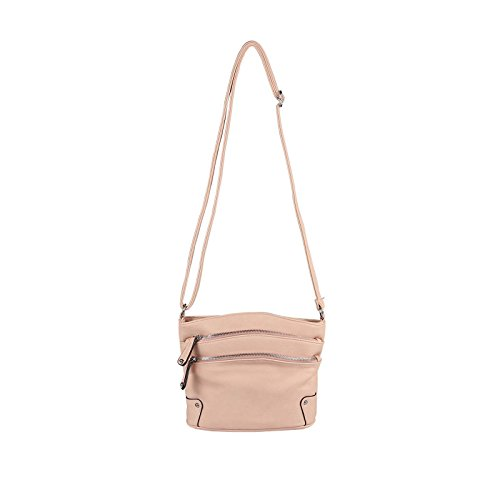 OBC Only-Beautiful-Couture, Poschette giorno donna nero Schwarz 19x25x8 cm ca.: 19x25x8 cm (BxHxT) Pink 19x25x8 cm