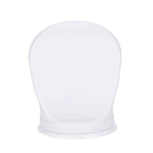 GLOGLOW Dusche Fußstütze, Kunststoff Badezimmer Dusche Rasierbein Hilfe Fußstütze Ecke Badezimmer Schritt für den Hotelbetrieb - weiß