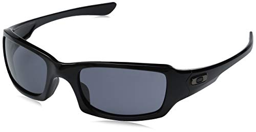 Oakley Sonnenbrille Fives Squared, OO9238, Schwarz (Polished Black/Grey (S3))