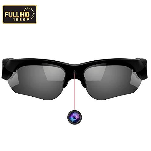 WBPINE Kamera-Sonnenbrille 1080P, Mini-Videobrille Blend- und UV-Schutzbrille für Sport, Reiten, Angeln, Motorrad