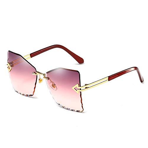 YIWU 2019 Neue Damen-Sonnenbrillen Mode Persönlichkeit Pfeil Metall Sonnenbrillen (Color : 3)