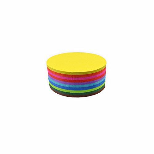 Creleo 792399 Faltblätter 70g/m², 8cm rund 500 Blatt, farbig sortiert hochwertiges Faltpapier für Origami und kreative Bastelprojekte Runde Blätter