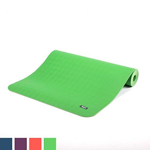 Ultra Grip Kautschuk-Yogamatte ECOPRO DIAMOND, Premium-Matte, extrem rutschfest & extra stark, 100% Naturkautschuk, Ökotex 100, 6mm, auch für Hot Yoga, Gymnastik und Pilates (schilf-grün)
