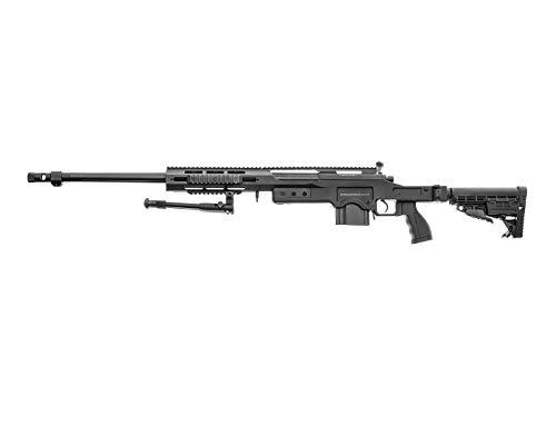 Swiss Arms Airsoft SAS 12 Sniper schwarz- gefedert/Spring/Aufladung Handbuch (0,5 Joule)
