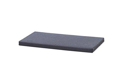 Ikea Kallax Regal Sitzauflage 76 x 39 x 4 cm Sitzpolster Sitzbank-Auflage Sitzkissen / Auflage für Sideboard als Sitzbank / unempfindlicher Bezug / Farbe GRAU ANTHRAZIT