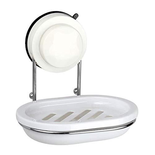 Fliyeong Edelstahl-Saugnapf Seifenschale Wandhalter Aufbewahrung Badezimmer Dusche Spüle Edelstahl Seifenrahmen Hohe Qualität