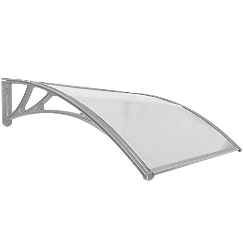 PrimeMatik - Vordach 120x100cm Türdach Überdachung grau