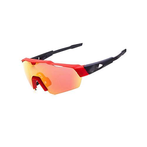 Vikimen Sportbrillen, Angeln Golfbrille,Cycling Glasses Mountain Bike Goggles Bicycle Sport Sunglasses MTB Cycling Eyewear Red Black