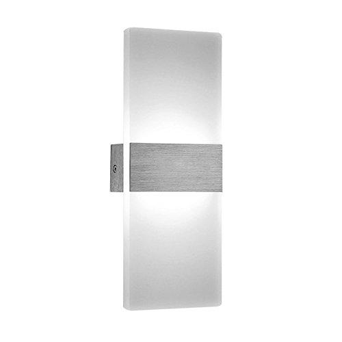 SAILUN® 12W Kaltweiß Spiegelleuchte Badlampe Wandleuchte Badleuchte Rechteck Weiß Aluminium Wasserdicht Stilvolles Elegante 290mm * 110mm (12W Rechteck Kaltweiß)