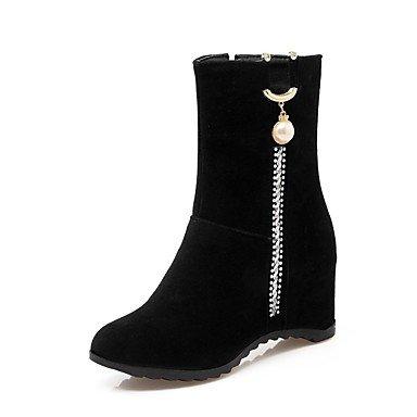 Rtry Zapatos Calzados Botas De Combate De Material Transparente Nieve Del Invierno Botas Botas De Moda Sella Bootie De Luz Soles Negro Us7.5 / Eu38 / Uk5.5 / Cn38 Us9.5-10 / Eu41 / Uk7.5-8 / Cn42