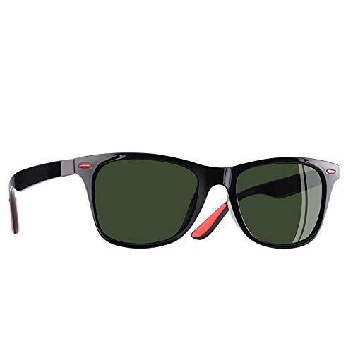FUZHISI Sonnenbrillen Klassische Polarisierte Sonnenbrille Männer Frauen Fahren Square Frame Sonnenbrille Männliche Brille UV400, grün