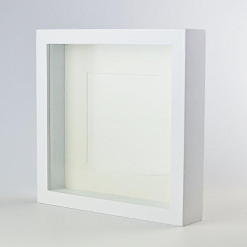 Marco de caja de madera sólida 3D 20x20 cm / 8x8 pulgadas Marco de ca