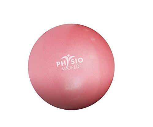 PhysioWorld Balle de Pilates Antidérapante 20cm - Ballon Paille d'exercice Mini Ballon pour Pilates