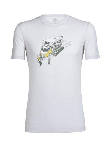 Icebreaker Herren Tech Lite Short Sleeve Crewe Hohe MTN Wappen leicht Top Small Snow Bug - Pearl (Weiße T-shirt Abenteuer)