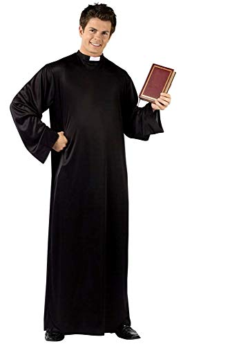 Inception pro infinite costume - tunica - prete - sacerdote - travestimento - carnevale - halloween - cosplay - uomo - colore nero - idea regalo per natale e compleanno