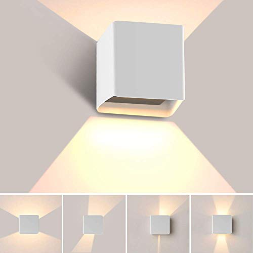 Apliques Pared LED 3000K, Hommie 10W 1000lm Apliques Pared Interior Moderno Impermeable...