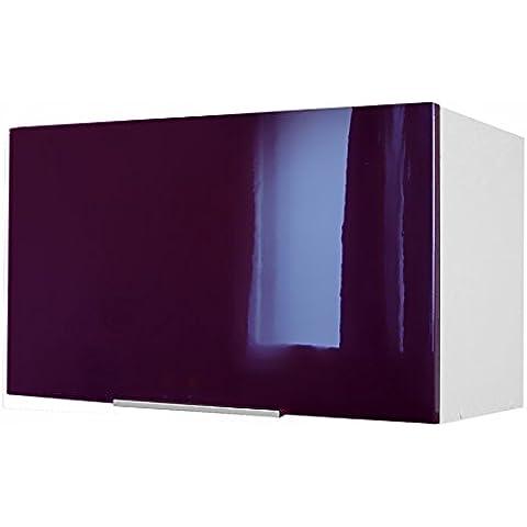 Berlenus CP8HA - Mueble alto de cocina sobre campaña extractora (60 cm), color berenjena brillante