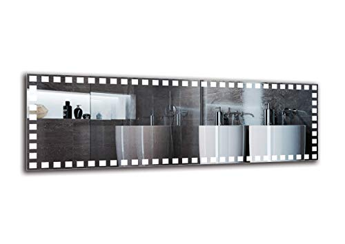 Espejo LED Premium - Dimensiones del Espejo 150x50 cm - Espejo de baño con iluminación LED - Espejo...
